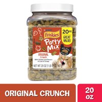 Friskies Cat Treats Party Mix Original Crunch - 20 oz. Canister