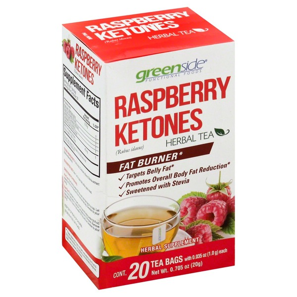 Green Side Herbal Tea Raspberry Ketones Bags From H E B In Austin Tx Burpy Com