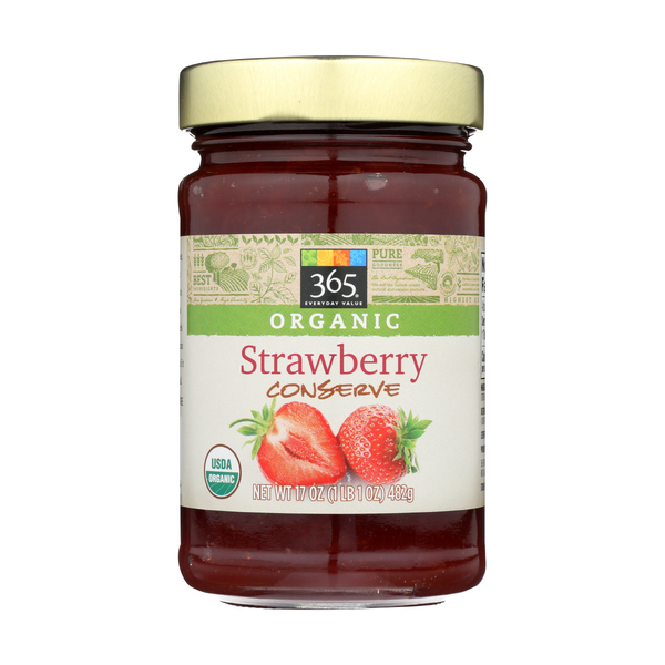 365 Everyday Value® Organic Strawberry Conserve Fruit Spread, 17 oz