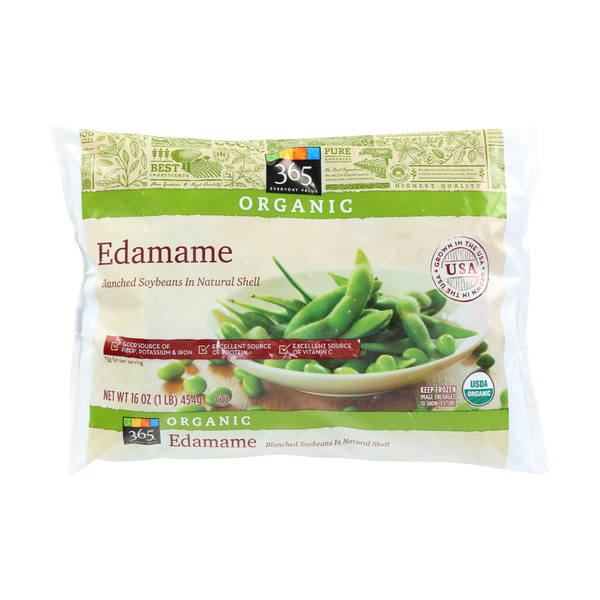 365 everyday value® Organic Edamame in Shell, 16 oz