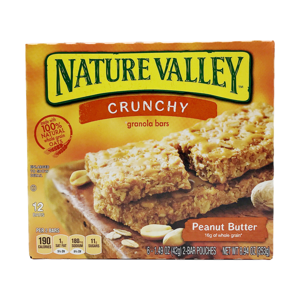 Nature valley Peanut Butter Crunchy Granola Bars, 8.94 oz