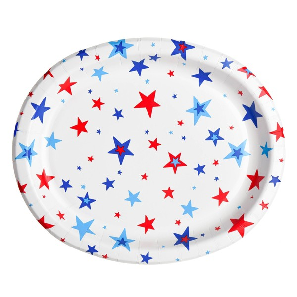 """10""""x12"""" 10ct Oval Platter with Stars - Sun Squad™"""