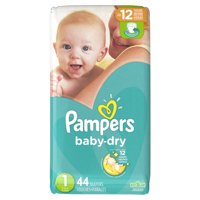Pampers Baby-Dry Diapers Size 1 44 Count