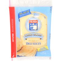Finlandia Natural Deli Slices Imported Light Swiss Cheese