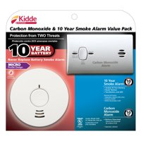 Kidde 10 Year Smoke Alarm and Carbon Monoxide Value Pack, Models i1040 and KN-COB-LP2