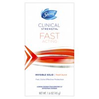 Secret Clinical Strength Invisible Solid Antiperspirant and Deodorant Fast Acting, Fresh Burst 1.6 oz