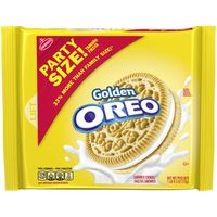 Oreo Golden Sandwich Cookies, Vanilla Flavor, 1 Resealable Party Size Pack