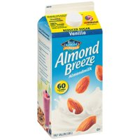 Blue Diamond Almond Breeze Reduced Sugar Vanilla Almondmilk, 0.5 gal