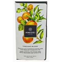 Amedei Toscana Blond Dark Chocolate Bar With Peach & Apricot