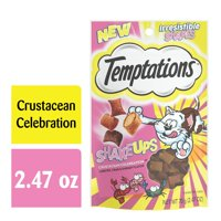 TEMPTATIONS ShakeUps Crunchy and Soft Cat Treats, Crustacean Celebration Flavor, 2.47 oz. Pouch