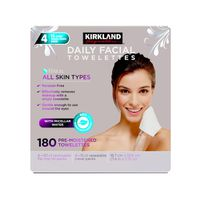 Kirkland Signature Daily Facial Cleansing Towelettes, 180 ct