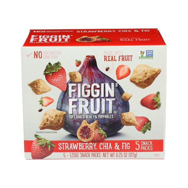Figgin' fruit Strawberry Chia & Fig Poppables, 5 ct