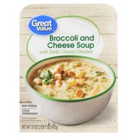 Great Value Broccoli and Cheese Soup with Garlic Cheese Croutons, 33 oz