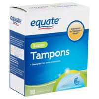 Equate Super Absorbency Unscented Tampons with Plastic Applicators, 18 Ct