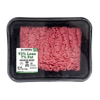 93% Lean All-Natural Ground Beef - 1lb - Market Pantry™