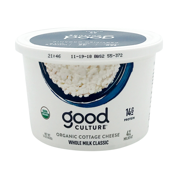 Good culture Organic Whole Milk Classic Cottage Cheese, 16 oz