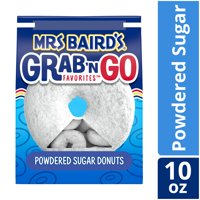 Mrs Baird's Grab 'n Go Powdered Sugar Donuts, 10 oz
