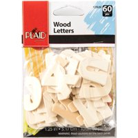 Plaid Wood Bold Letter Pack, 60 Piece