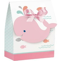 12ct Pink Baby Whale Favor Bags