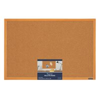 Quartet Cork Bulletin Board, 2' x 3', Wood Finish Frame