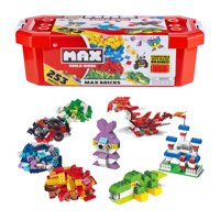 MAX Build More Premium Building Bricks Set (253 Bricks) - Major Brick Brands Compatible