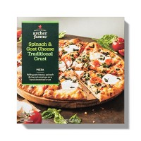 Spinach & Goat Cheese Traditional Crust Frozen Pizza - 17.5oz - Archer Farms™