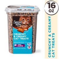 Special Kitty Crunchy & Creamy Cat Treats, Tuna Flavor, 16 oz
