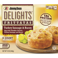 Jimmy Dean Delights® Turkey Sausage and Bacon Frittatas, 6 Count (Frozen)