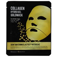 Masqueology Collagen Hydro Gel Gold Face Mask, 0.98 Oz, 2 Count
