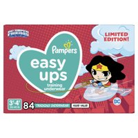 Pampers Easy Ups Justice League Training Underwear Girls Size 5 3T-4T 84 Count