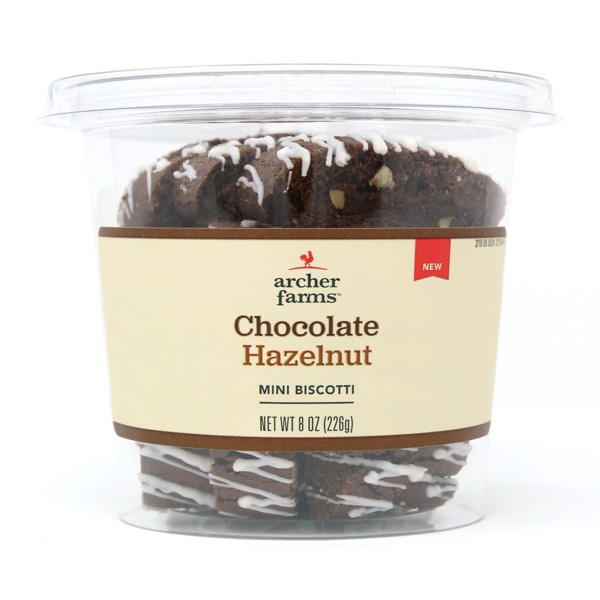 Chocolate Hazelnut Mini Biscotti with Drizzle 8oz - Archer Farms™