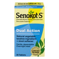 Senokot-S Laxative Dual Action