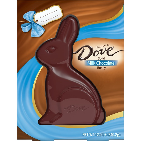 Dove Easter Milk Chocolate Candy Solid Easter Bunny Box