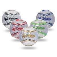 Franklin Sports MLB Soft Strike Metallic Tee Ball Assorted Colors, Single Ball