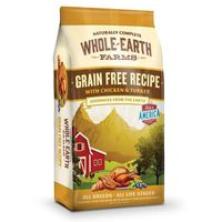 Whole Earth Farms Grain Free Recipe With Chicken & Turkey Natural Food For Dogs With Added Vitamins & Minerals