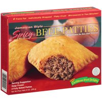 Caribbean Food Delights: Jamaican Style Spicy Beef Turnover Patties, 2 Ct