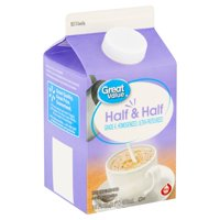 Great Value Half & Half, 16 fl oz