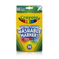 Crayola Ultra Clean Classic Fine Line Marker, 10 Count