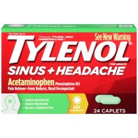 Tylenol Sinus Congestion & Pain Non-Drowsy Caplets, 24 Ct