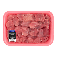 Pork Stew Meat Boneless, 0.9 - 1.3 lb