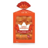King's Hawaiian Rolls, Original Hawaiian Sweet Dinner Rolls, 12 Count Bag