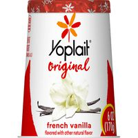 Yoplait Original Yogurt, French Vanilla, Low Fat Yogurt