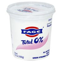 Fage Total 0% Milkfat All Natural Nonfat Greek Strained Yogurt