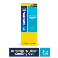PREPARATION H Hemorrhoid Symptom Treatment Cooling Gel, Fast Discomfort Relief with Vitamin E and Aloe, Tube (0.9 Ounce)