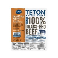 Teton Waters Ranch Uncured Beef Hot Dogs - 5ct/8oz