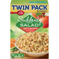 Suddenly Salad Ranch & Bacon Pasta Salad Dry Meals Twin Pack 15 Oz