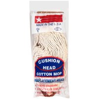 JW Manufacturing Cushion Head Cotton Mop Replacement Head, 1 head