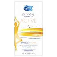 Secret Clinical Strength Antiperspirant and Deodorant for Women Soft Solid, ACTIVE Sport Fresh scent 1.6 oz