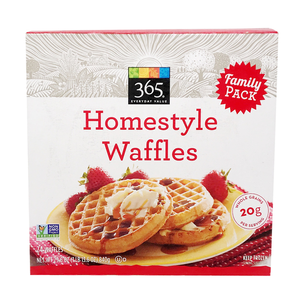 365 everyday value® Homestyle Waffles Family Pack, 29.6 oz