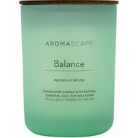 Aromascape Fragranced Candle with Natural Essential Oils Balance Waterlily Melon